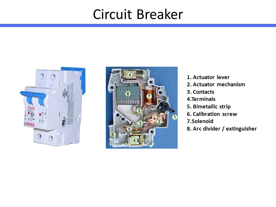Circuit Breaker Actuator Lever Actuator Mechanism Contacts on Mcb Electrical Types