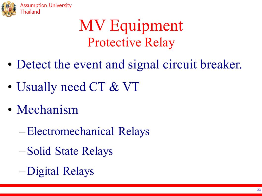 EE Electrical Systems Design Ppt Download - Protection relays and circuit breakers