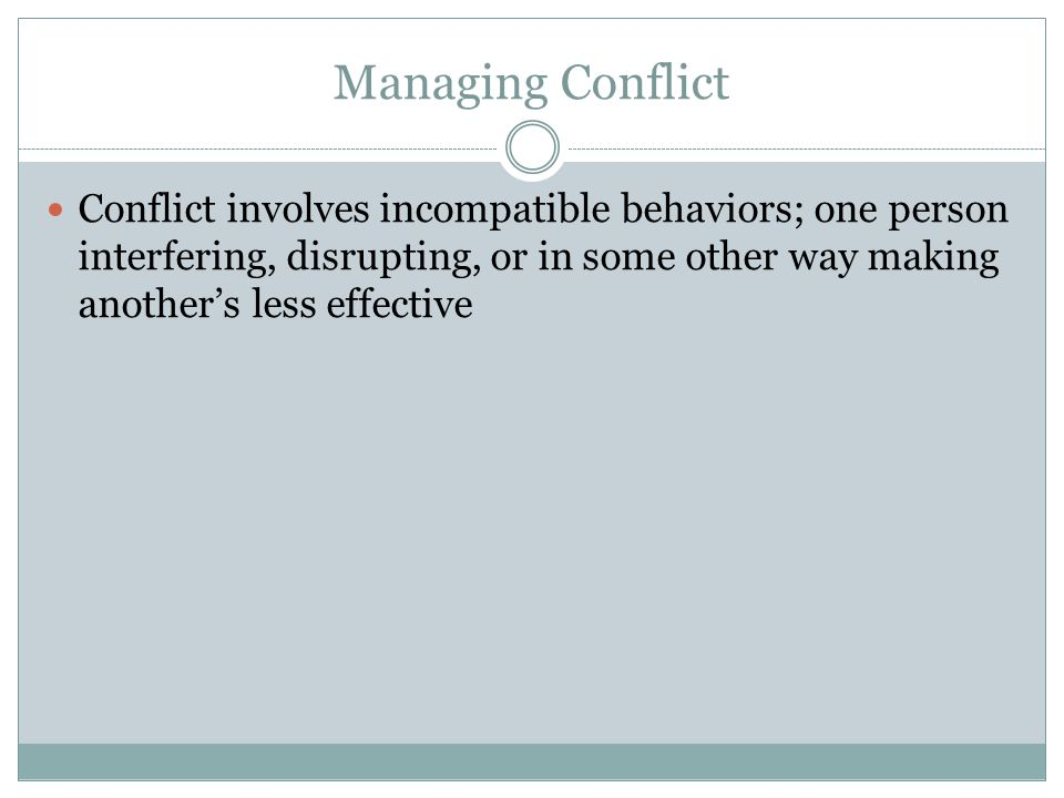 Effective Communication & Conflict Resolution