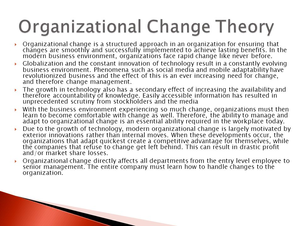 organization change and its effects to 3j tech company The technology needs of a small company exist in an almost constant state of flux , adapting and changing based on business demands and advancements in.