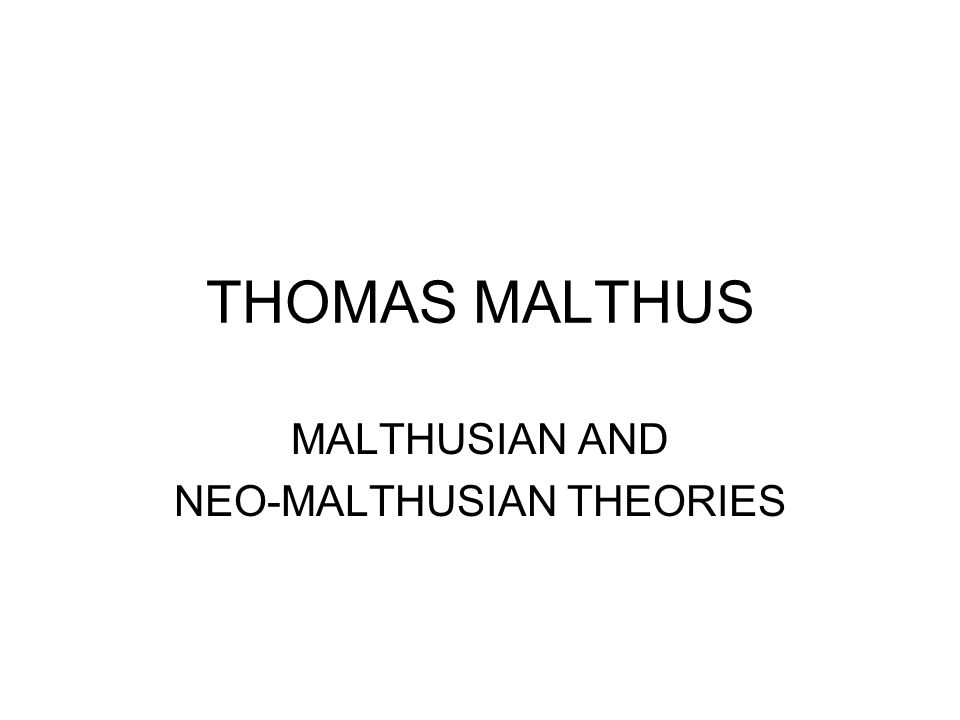 a neo malthusian Get this from a library neo-malthusianism and eugenics [c v drysdale malthusian league.