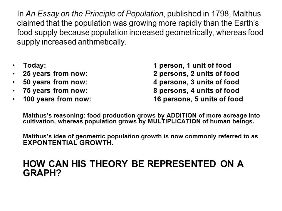 the neo malthusian population theory essay Malthusian theory of population thomas robert malthus was the first economist to propose a systematic theory of population he articulated his views regarding population in his famous.