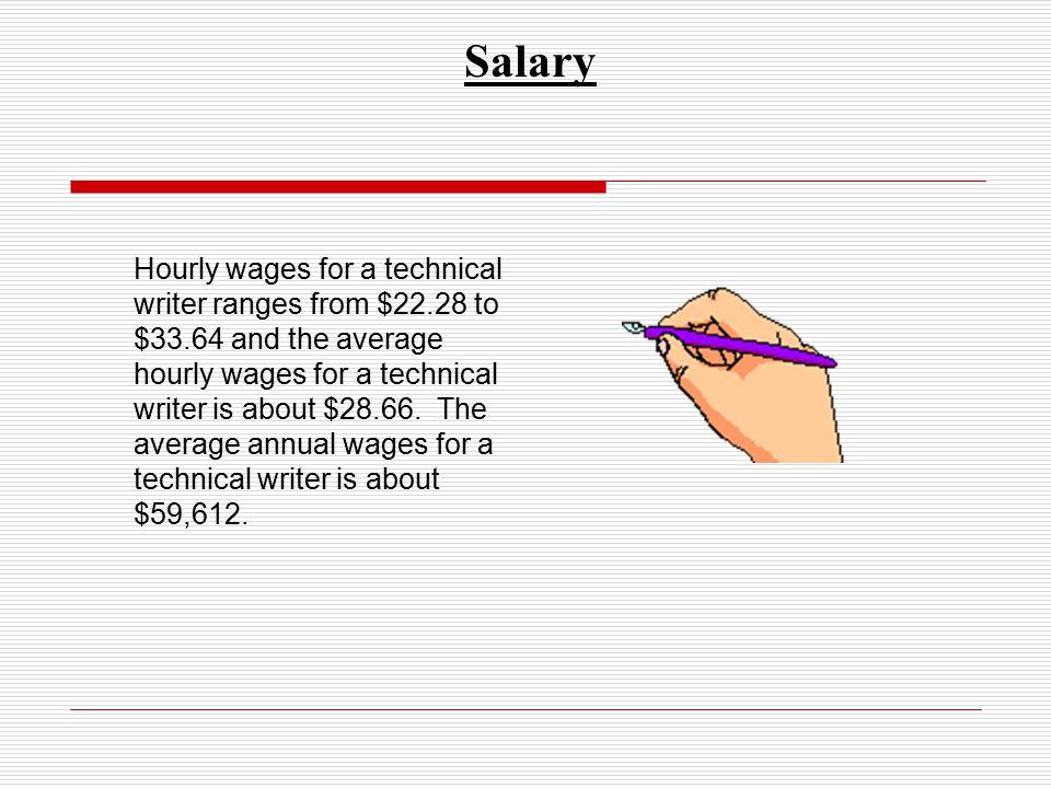 technical writers salary