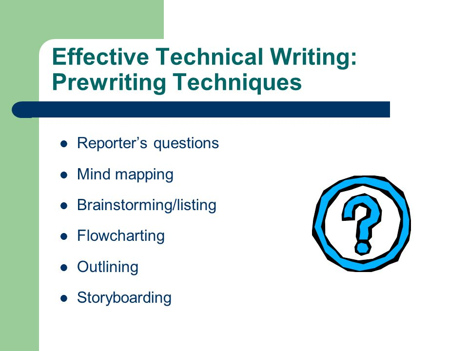 basic techniques in technical writing A not-writer for example, almost everyone needs to write technical  five  tips for improving your technical writing and documentation get more   javascript's reduce method explained by going on a diet go to the.