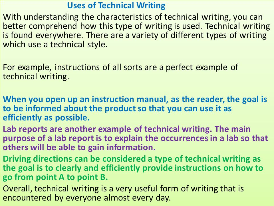 Technical Writing Real World Writing In The 21st Century