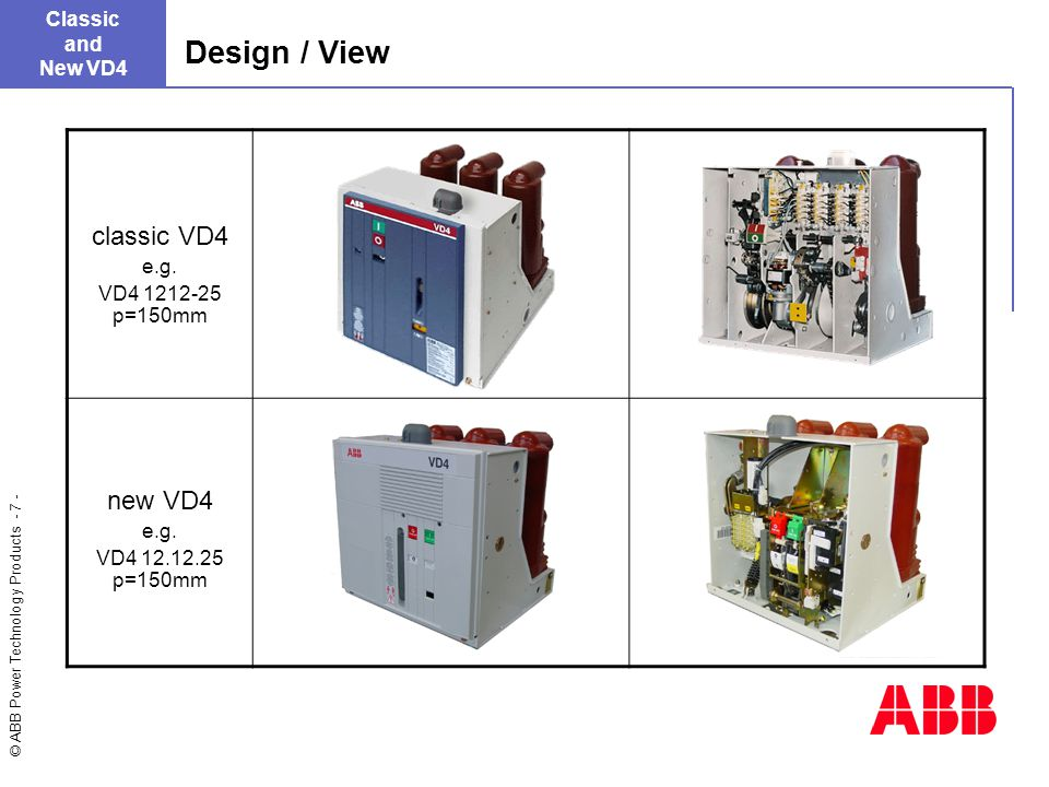 Design+%2F+View+classic+VD4+new+VD4+Classic+and+New+VD4+e.g. innovation within continuity ppt video online download abb vd4 wiring diagram at gsmx.co
