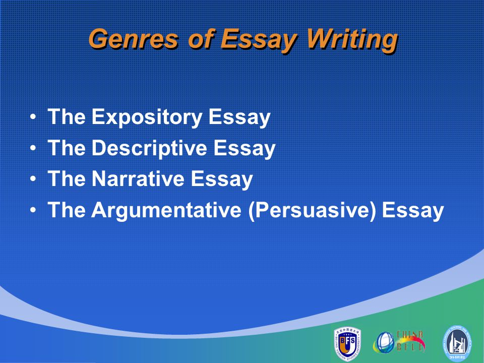 essay/ the genres of writing Need writing help get feedback on grammar, clarity, concision and logic instantly  genre essay - genre genre is a term that is used to classify or describe a.