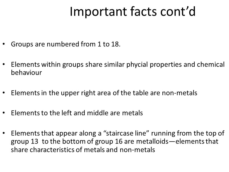 Periodic table ppt video online download 5 important facts urtaz Gallery