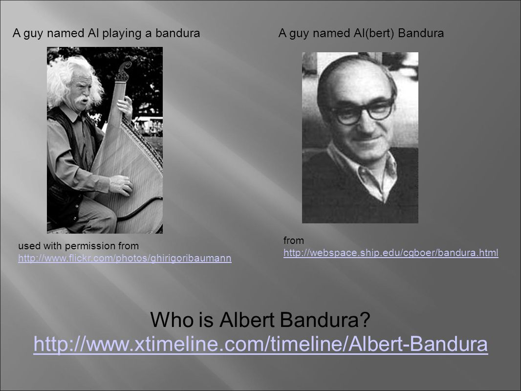 albert bandura 1 Bandura, albert 1986 social foundations of thought and action a social cognitive theory chapter 1 models of human nature and causality.