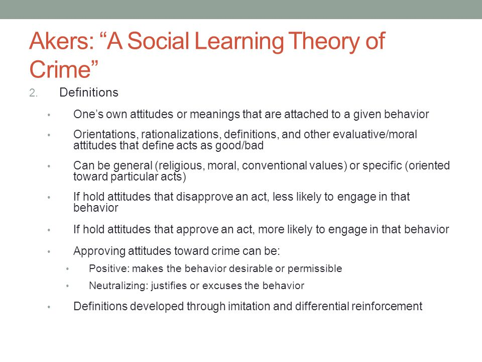 social learning theory definition