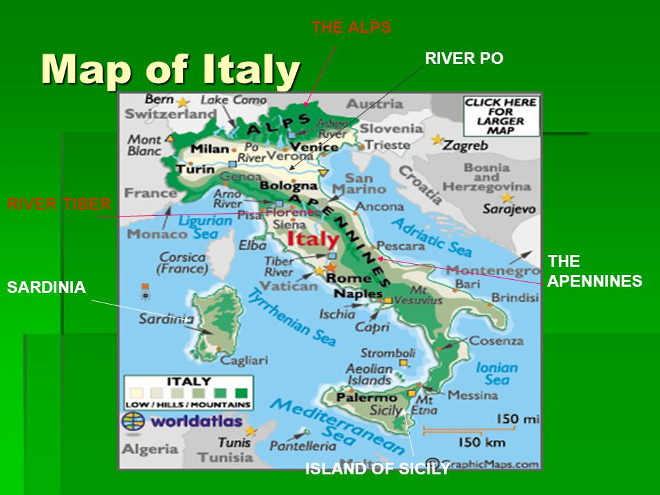 ITALY By Eleanor Th Class Ppt Download - Map of ancient rome po river