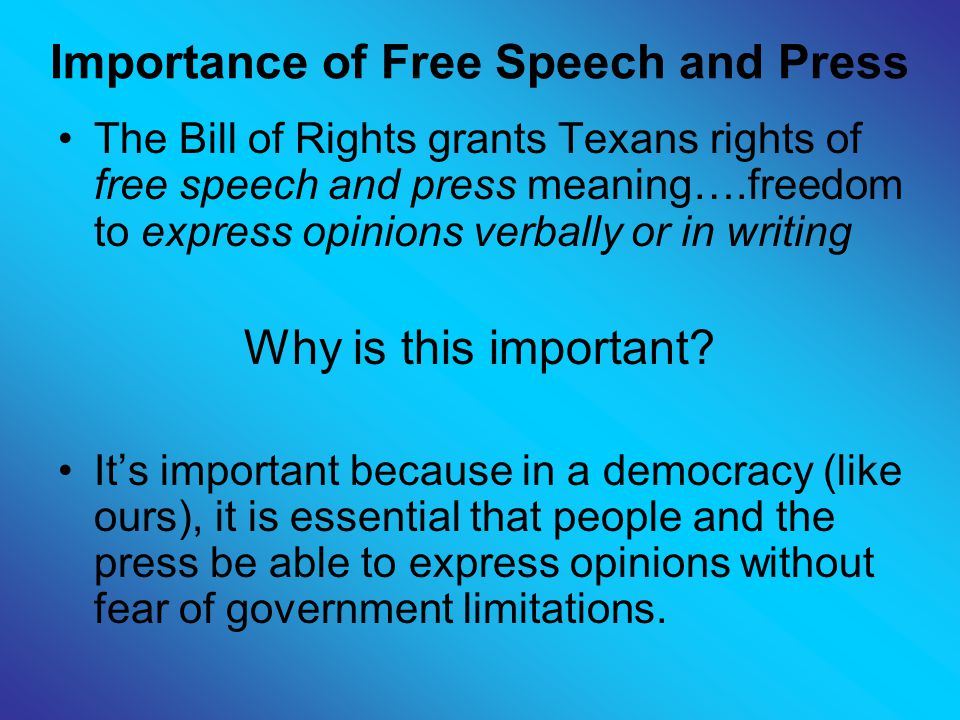 Importance and Purpose of the Bill of Rights