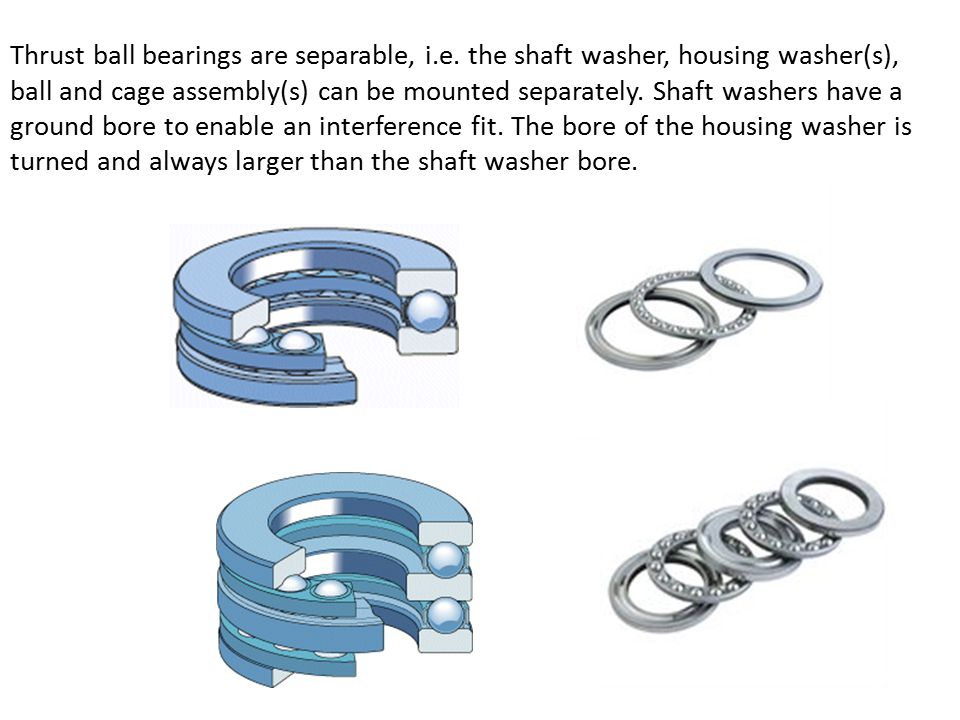 Thrust ball bearings are separable, i. e