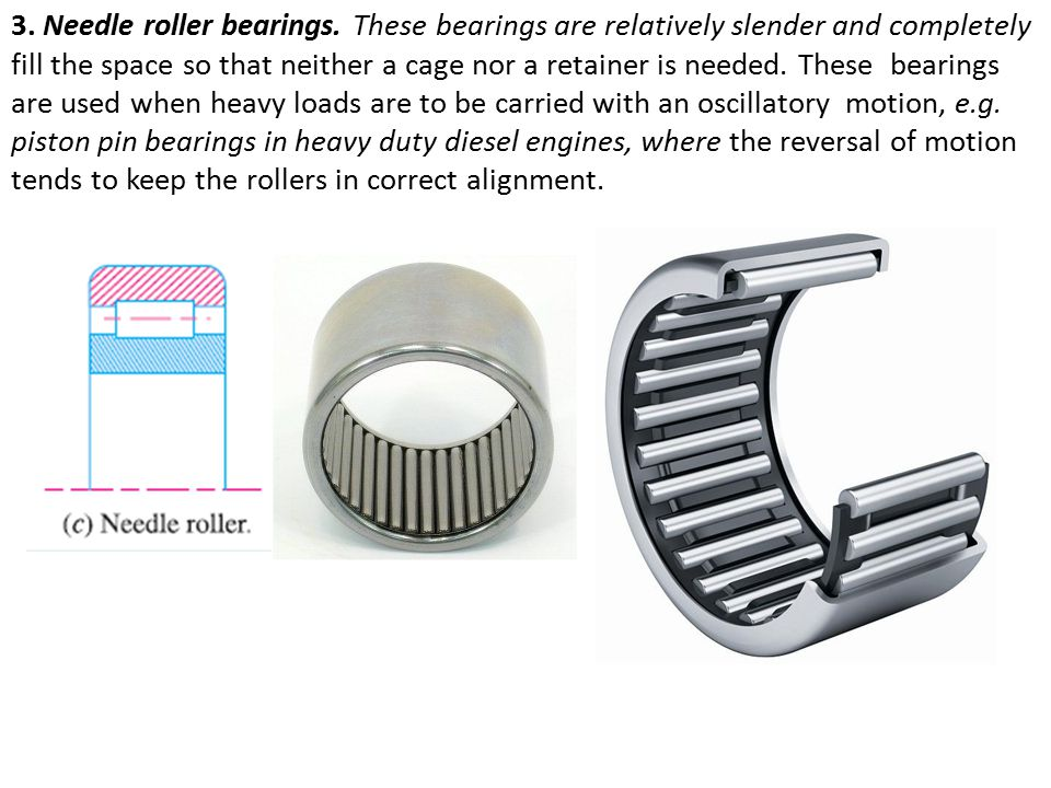 3. Needle roller bearings