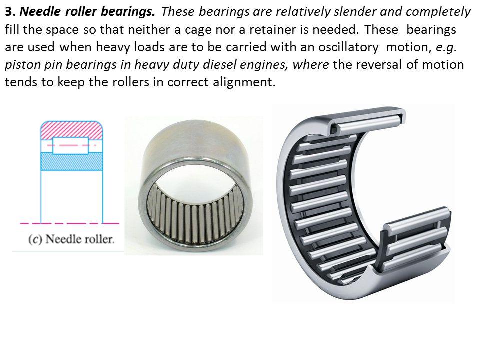 3. Needle roller bearings