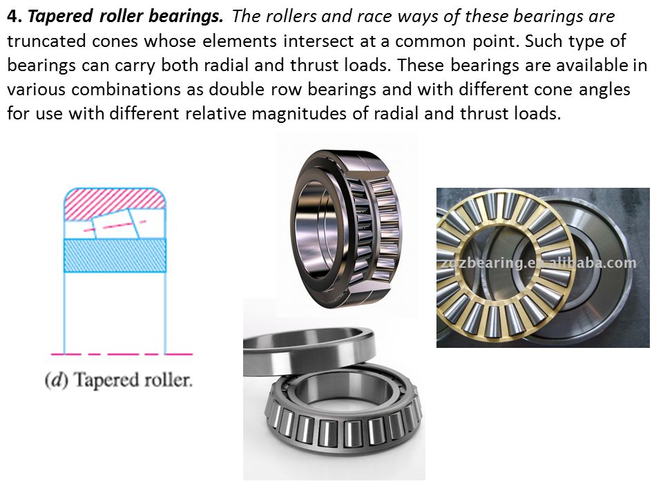 4. Tapered roller bearings
