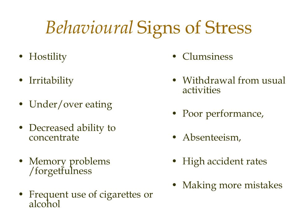 Behavioural Signs of Stress