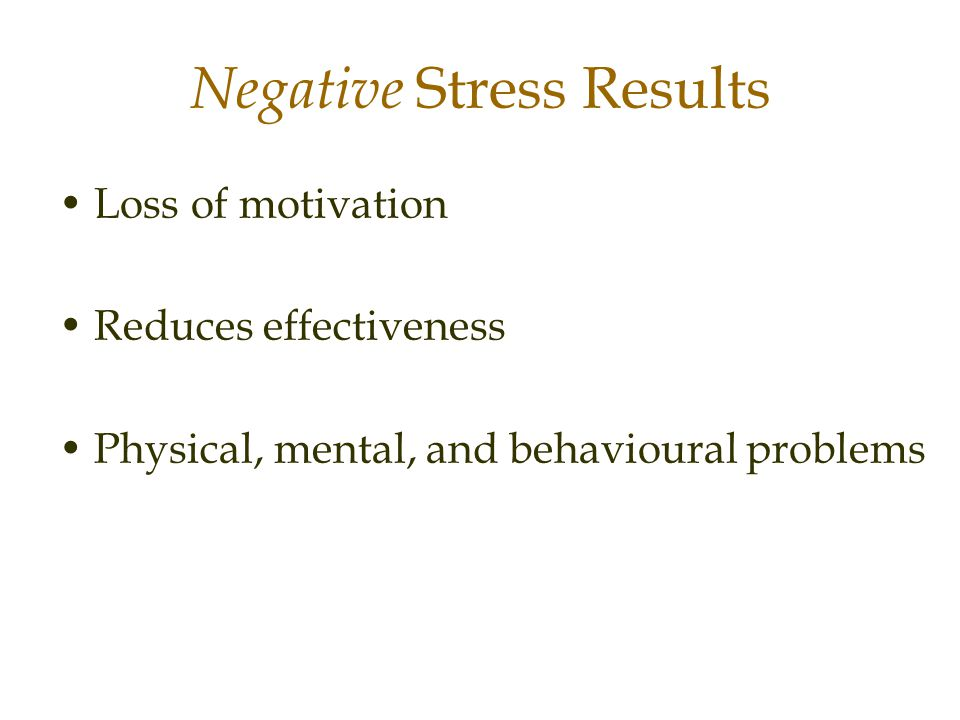 Negative Stress Results