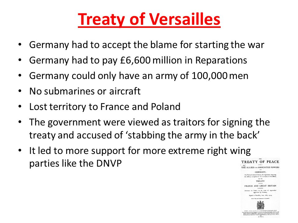 why was germany unhappy with the treaty of versailles essay The treaty of versailles was drafted by representatives of great britain, the   those unhappy with the treaty and became the impetus for world war ii  not  accepting the guilt accusations of the treaty, germans blamed their.