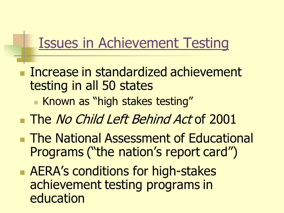 an introduction to the issue of standardized testing Now maggiano offers the following 11 problems that the obsession with  the  obsession with high-stakes standardized tests is stifling creativity.
