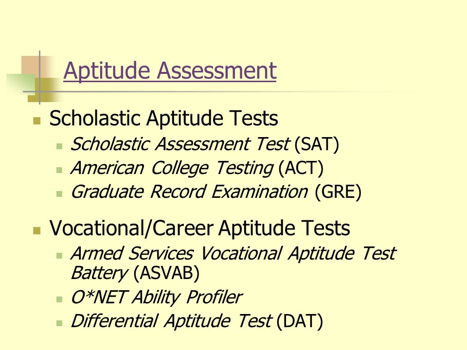 how to choose a career assessment test