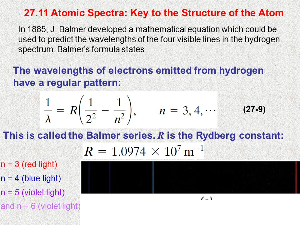 27.11 Atomic Spectra: Key to the Structure of the Atom