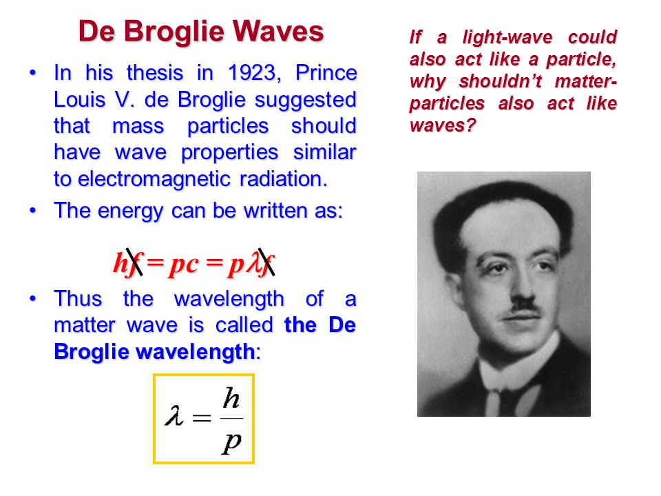 de broglie shortest thesis In his thesis, he introduced a simple equation (now called the de broglie  see  what has been the shortest phd dissertation online, in terms of total pages.