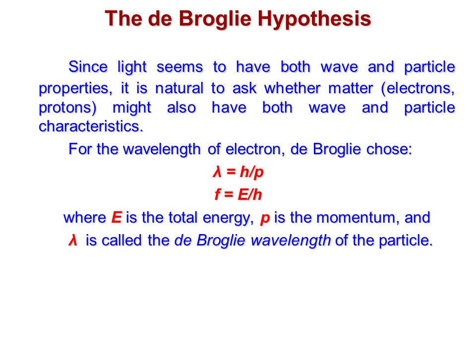 broglie thesis Coursework on oleanna de broglie phd thesis pages write a paper online for free homework help in biology.