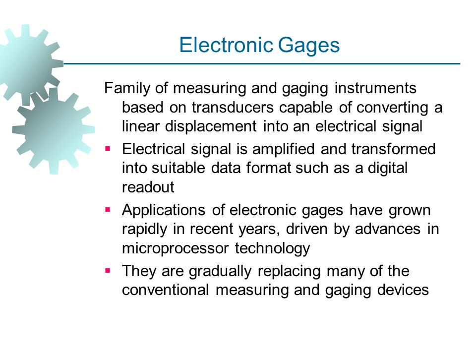 Electronic Gages