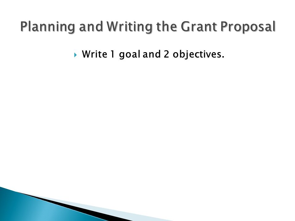 Sample Grant Proposals
