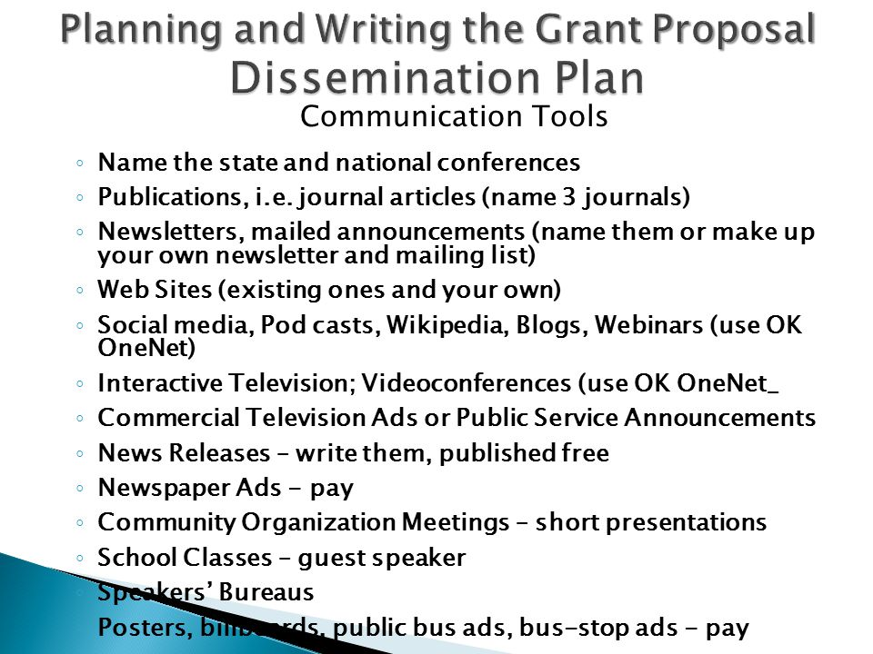 Grant proposal writing images project proposal simple for Dissemination plan template