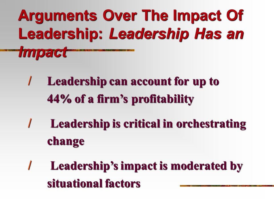 the impact of variables on leadership A study of organizational trust and related variables in educational policy and leadership studies a study of organizational trust and related variables among.