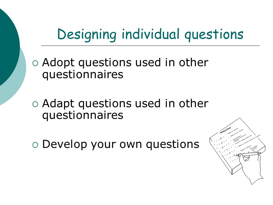 Designing individual questions