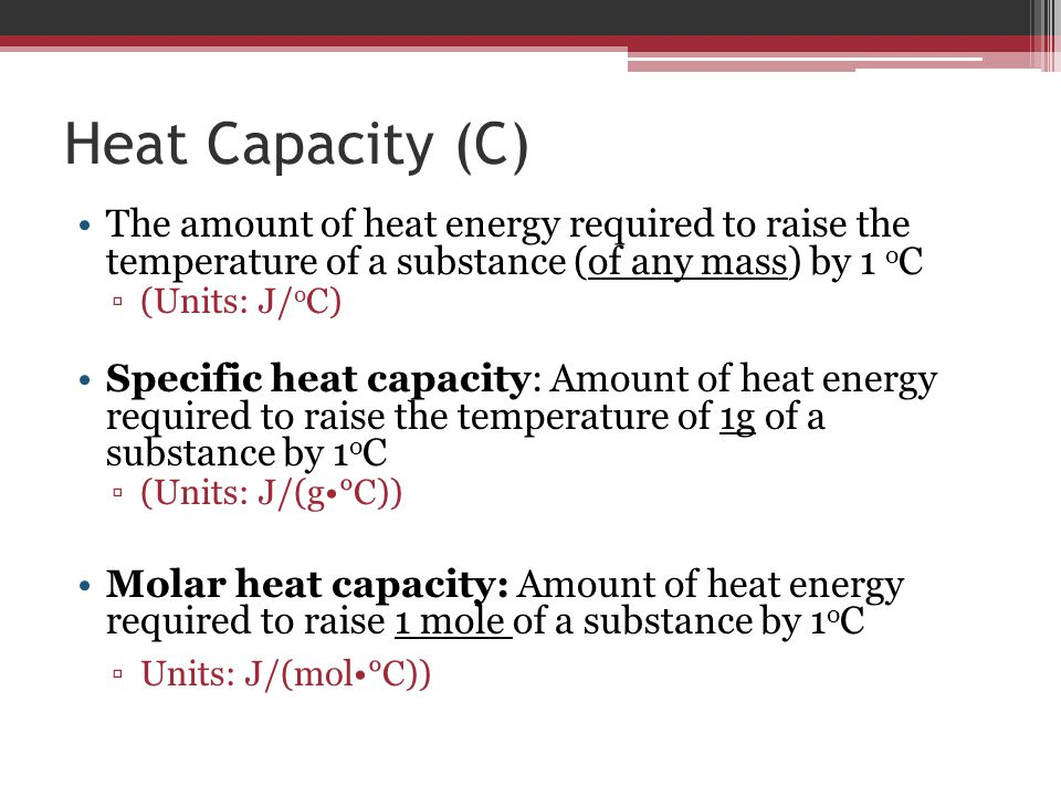 Energy and heat ppt video online download for Specific heat table j gc
