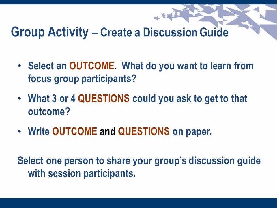 focus group discussion guide pdf