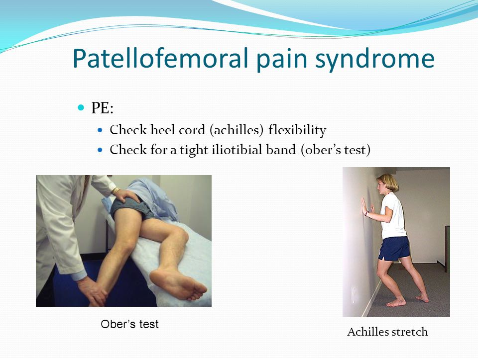 patellar femoral dysfunction Patellofemoral pain syndrome description: patellofemoral pain syndrome is defined as pain around the kneecap there are a few other diagnoses that may be used for pain at or around the kneecap 1 chondromalacia patellae: actual fraying and damage to the underlying patellar cartilage 2.