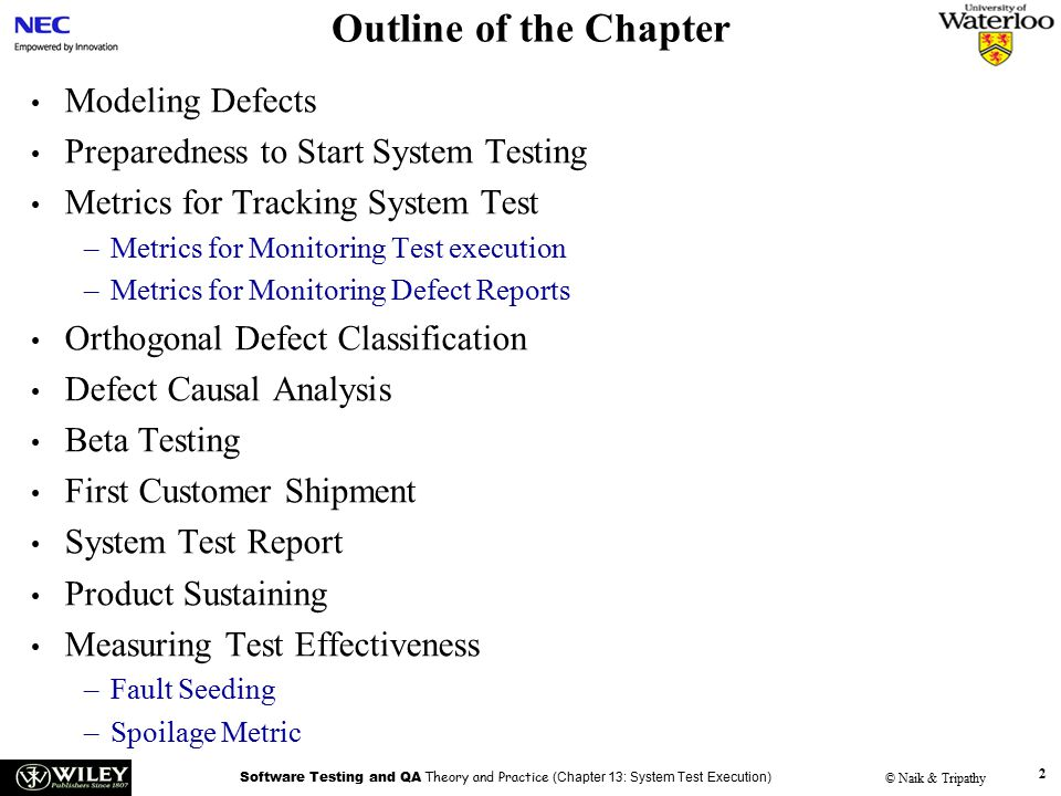 handouts software testing and quality assurance theory and  2 outline