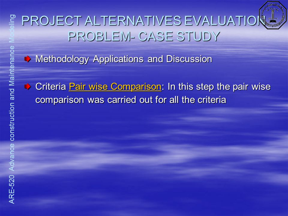 evaluation of alternatives essay Visual guide to essay writing shows you excellently how to commu-  consider the implications of your evaluation for the debate/problem in your discipline/field.