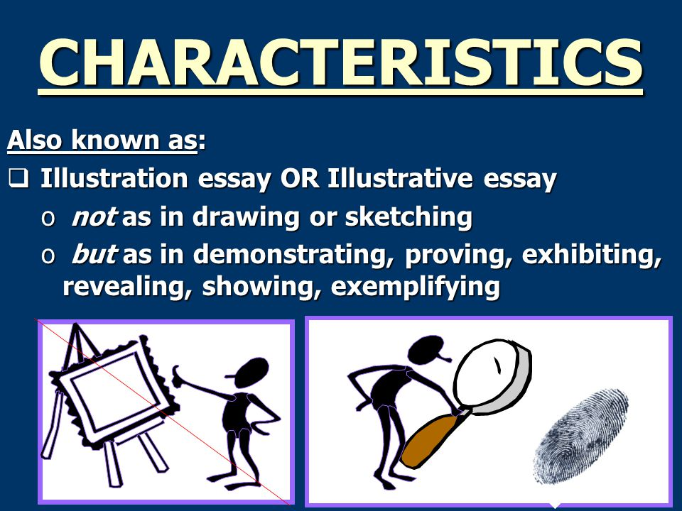 writing illustration essays A classic format for compositions is the five-paragraph essay it is not the only format for writing an essay, of course , cleverest illustration.