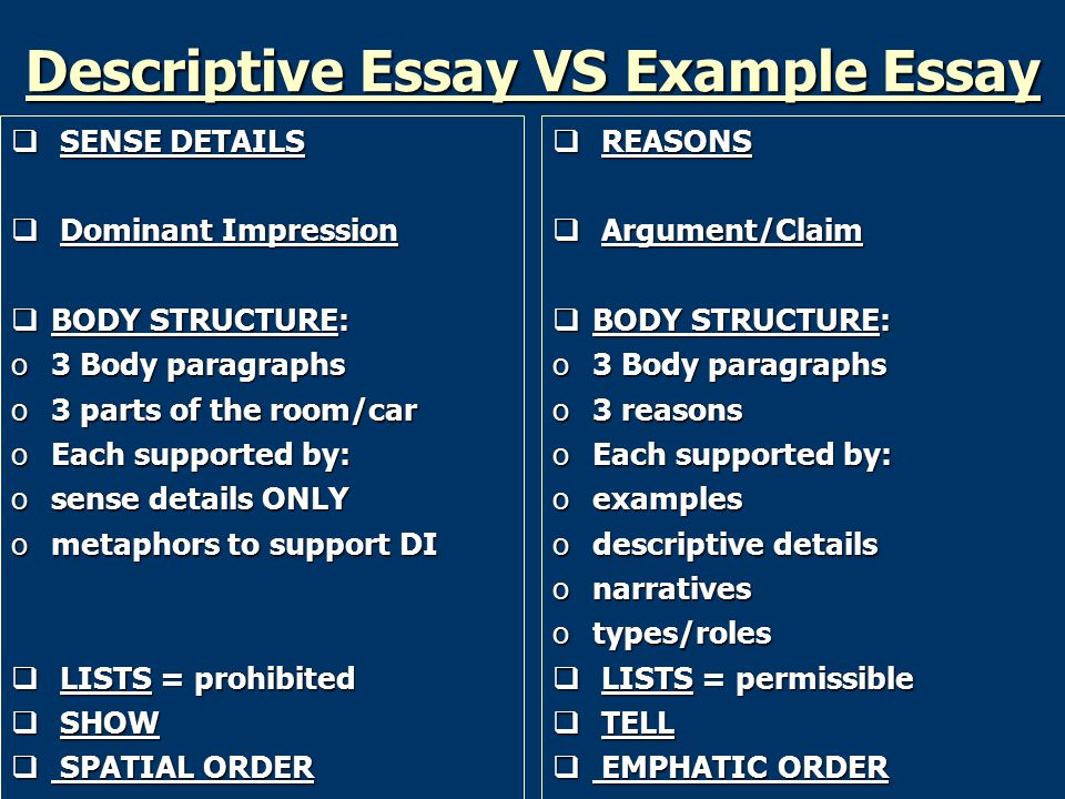 impressionistic descriptive essay Descriptive details aid in developing the overall dominant and interesting because it has a dominant impression descriptive writing provides literary texture to.