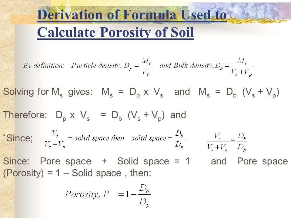 Me3ow soil and water engineering ppt video online download for Soil volume calculator