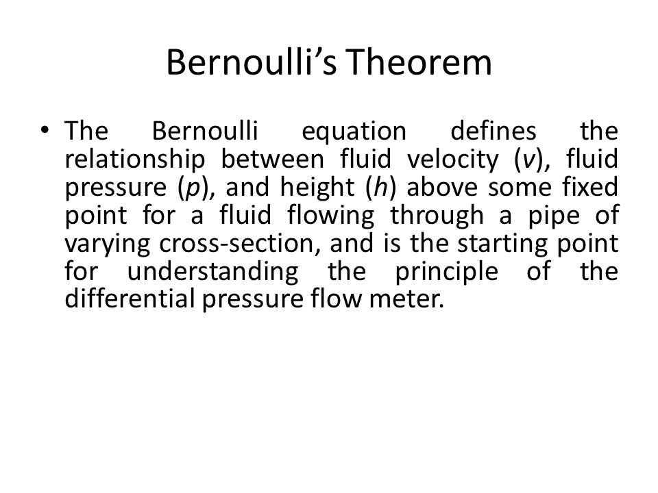differential pressure and velocity relationship
