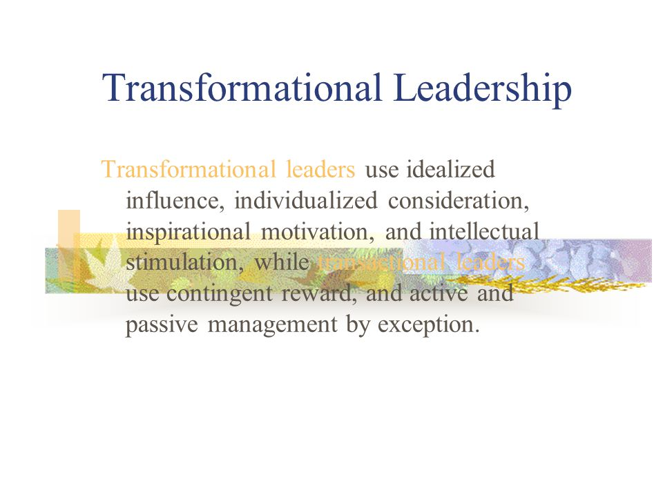 transactional leaders transformational leaders and emotional The relationship of emotional intelligence and transformational leadership behavior in texas agrilife extension service mid-managers.