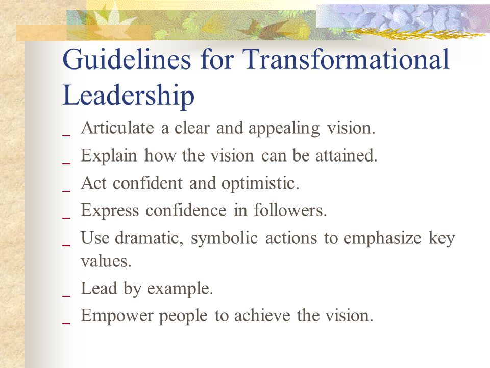 examples of a transformational leader pdf