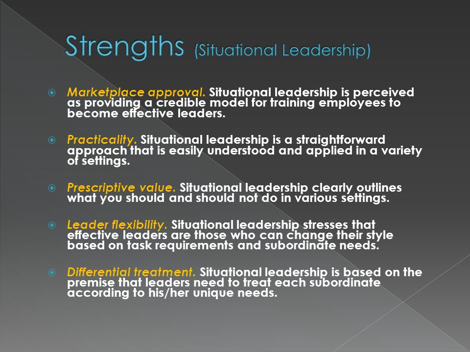 strengths of the situational approach Sports psychology: personality theories explained updated on  marten's schematic view and the interactional approach are very similar in that they both agree.