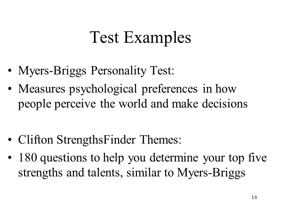 psychological test lists Psychologists and other qualified mental health professionals use psychological tests to measure specific psychological constructs in individuals.