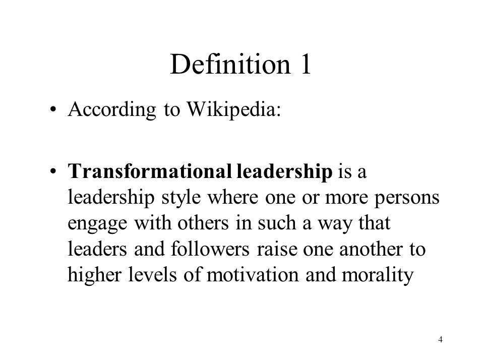 transformational leadership term papers Been defined secondly, this paper reflects on how transformational leadership  builds  transformational leadership research was recognized and originally.
