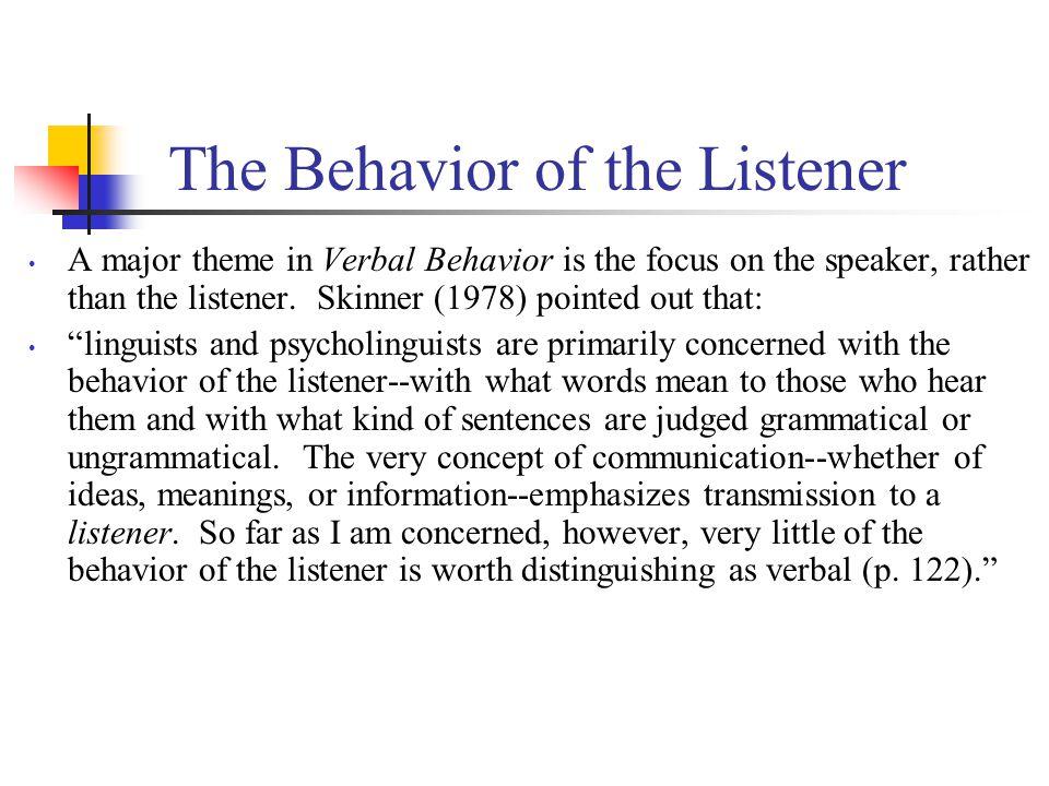 analysis of verbal behavior pdf