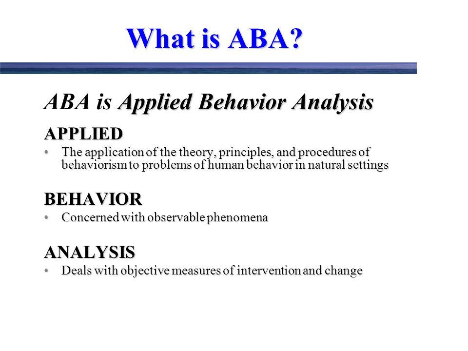 an analysis of behavioral phenomenon