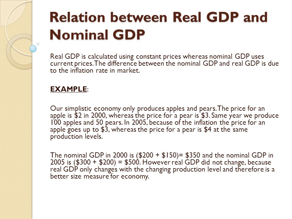 difference between nominal gdp and real 10052018  differences between nominal and real accounts  the main difference between real and nominal accounts are the type of accounts each hold.